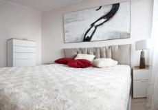 mieszkanie wzorcowe, komfortowa sypialnia (Lokum da Vinci)