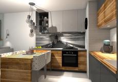 Mieszkanie wzorcowe na osiedle Lokum Vena - aneks kuchenny