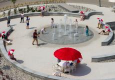 Lokum da Vinci, pergola i fontanna