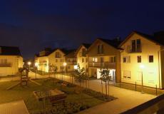 Deweloperzy wrocław - domy Siechnice, widok wieczorem