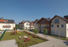 Domy wrocław (Siechnice) - widok na plac zabaw