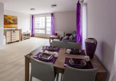 pokój dzienny, mieszkanie wzorcowe (Lokum da Vinci)
