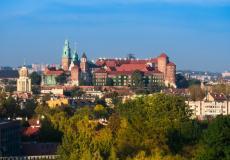 Widok na Zamek Królewski na Wawelu