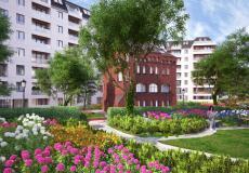 Osiedle Lokum Vena - dziedziniec z piękną roślinnością