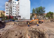 Osiedle Lokum Vena - prace porządkowe na terenie inwestycji