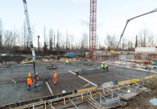 Osiedle Lokum Victoria - budowa etapu Va - prace przy fundamentach