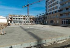 Osiedle Lokum Victoria - etapy IVa i IVb, przygotowania podbudowy pod nawierzchnię parkingu