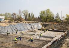 Osiedle Lokum Vista - prace przy płycie fundamentowej