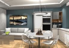 Mieszkanie wzorcowe na osiedle Lokum Vena - salon